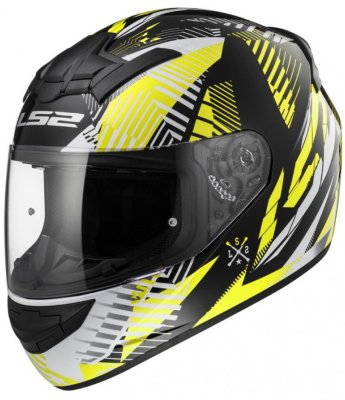 Шлем LS2 FF352 ROOKIE INFINITE WHITE BLACK YELLOW