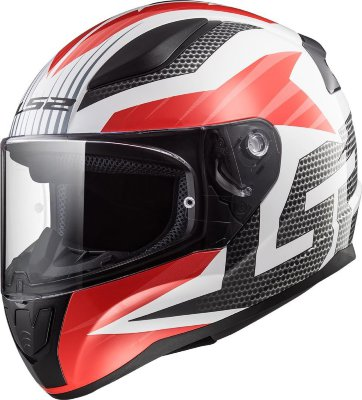 Шлем LS2 FF353 RAPID GRID white red