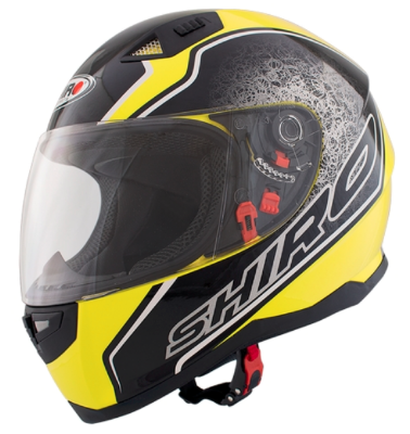 Шлем SHIRO SH881 Byte Yellow Fluor